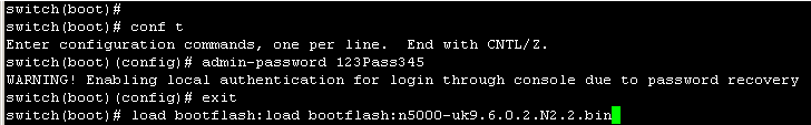Cách lấy lại mật khẩu trên Switch CISCO Nexus N3K N5K